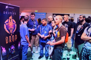 Crowd of gamers at the Delver's Drop booth at PAX Prime 2012